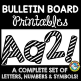 BULLETIN BOARD LETTERS BLACK AND WHITE CLASSROOM DECOR PRINTABLE
