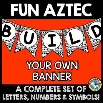 BULLETIN BOARD LETTERS BLACK AND WHITE (TRIBAL CLASSROOM DECOR BANNERS)