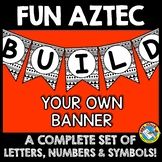 BULLETIN BOARD LETTERS BLACK AND WHITE (TRIBAL CLASSROOM D