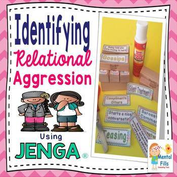 Girl's Friendship & Bullying Labels: Use with JENGA® for girls groups