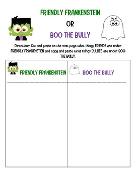 BULLYING (HALLOWEEN EDITION) Friendly Frankenstein vs Boo the Bully