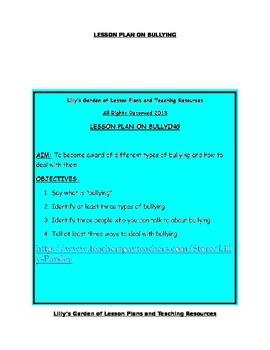 Bullying Lesson Plan