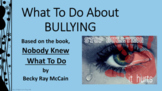 BULLYING PREVENTION UPstander Lesson w 4 video links PBIS