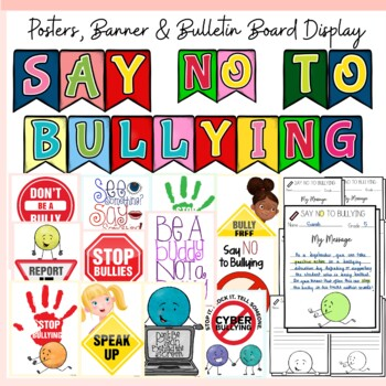 BULLYING {SCAVENGER HUNT FACT CARDS, POSTER REFLECTIONS, BADGES, BANNER}