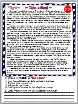 TEACHING THEME: TASK CARDS & MORE~ ANTI-BULLYING VERSION