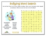 BULLYING WORDSEARCH
