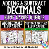 BUMP! Adding and Subtracting Decimals Games Bundle {5.NBT.7}