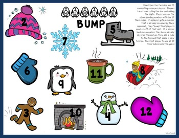 BUMP Math Addition Game Boards - 20 Designs
