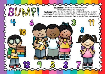 BUMP! Back To School Themed Game Board
