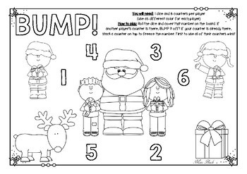 BUMP! Christmas themed game board