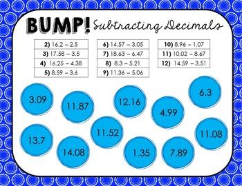 BUMP! Decimal Review Games