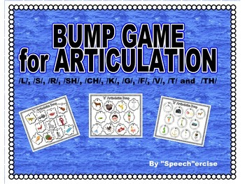 SPEECH THERAPY BUMP GAME for ARTICULATION