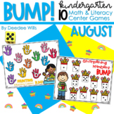 BUMP Games Monthly Math and Literacy Kindergarten   August