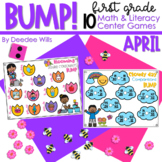 BUMP Games Monthly Math and Literacy First Grade   April
