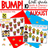 BUMP Games Monthly Math and Literacy First Grade   August