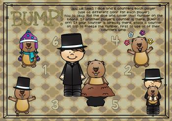 BUMP! Groundhog Day Theme Game Board