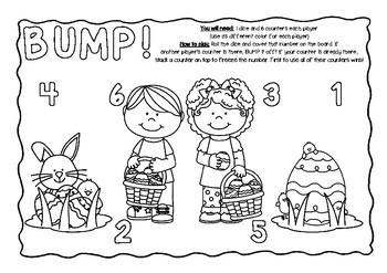 BUMP! Happy Easter Game Board