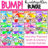 BUMP Games Monthly Math and Literacy Kindergarten    BUNDLE