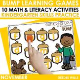 BUMP Games Monthly Math and Literacy Kindergarten    NOVEMBER