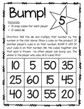 BUMP! Multiplication Game {Black & White}