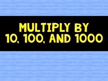Math Fluency Game (BUMP Multiplication: Multiples of 10)