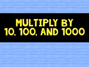 Math Fluency Game (BUMP Multiplication: Multiples of 10)