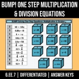 BUMP! One Step Multiplication & Division Equations