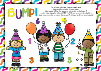 BUMP! Party Themed Board Game