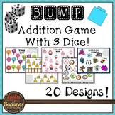 BUMP With 3 Dice - Math Addition Game Boards - 20 Designs