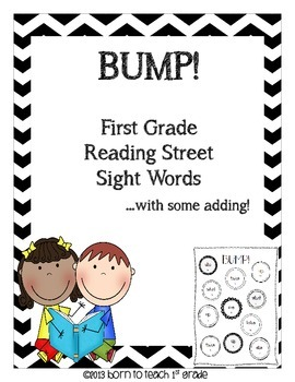 BUMP! with Scott Foresman Reading Street Sight Words