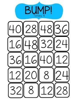 BUMP! Times 4-Math Game
