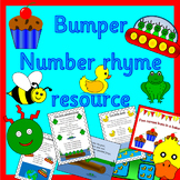 BUMPER NUMBER RHYMES singing pack- with games, props, display