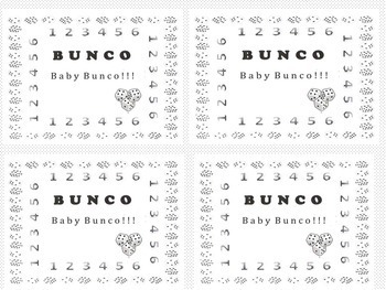 END OF YEAR Whole Class  Game/ Activity BUNCO BUNKO