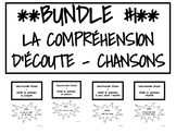 BUNDLE #1 : CHANSONS LA COMPRÉHENSION D'ÉCOUTE + GRAMMAIRE