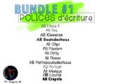 BUNDLE #1 - Polices d'écriture AB