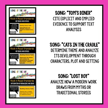 BUNDLE #1: Reading Standards, Song Analysis, Literary Terms, Figurative Language