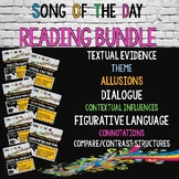 BUNDLE #1: Reading Standards, Song Analysis, Literary Term