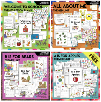 Preschool Curriculum BUNDLE 1 The First 10 Weeks - Distance Learning