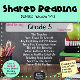 BUNDLE 1 of Grade 5 Shared Reading Texts and Lessons