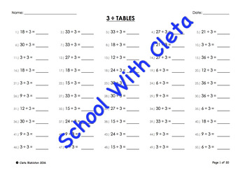bundle  to  twelve simple division mental maths  drill  originaljpg