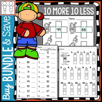 BUNDLE: 10 More 10 Less
