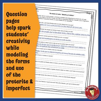 BUNDLE!!! El pretérito y el imperfecto: 10 cuentos al revés