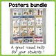 BUNDLE - 161 Classroom Posters ! Grammar - Phonics - Culture - Vocabulary