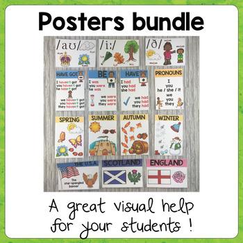 ESL Classroom Posters / Grammar - Phonetics - Culture - Vocabulary