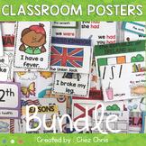ESL Classroom Posters / Grammar - Phonetics - Culture - Vo