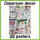 BUNDLE - 121 Classroom Posters : grammar / vocabulary / culture