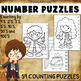 BUNDLE - 117 Harry Potter NUMBER PUZZLES – Counting by 1s, 2s, 3s, 5s, 10s...
