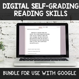 BUNDLE of 12 Digital Self Grading Reading Skills Assessmen