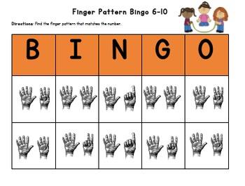 BUNDLE (12 Months): Finger Pattern Bingo (Differentiated 1-5, 6-10, & 1-10)