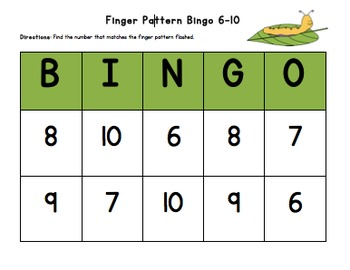BUNDLE (12 Months): Finger Pattern Bingo (Differentiated 1